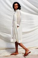 Handwoven Gathered Dress with Inner