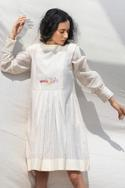 Handwoven Pleated Dress with Inner
