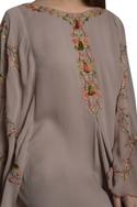 Floral embroidered kaftan dress
