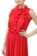Ruffle Flared Gown