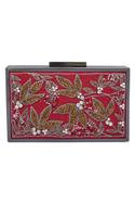 Floral Cutdana Embroidered Clutch Cum Sling bag