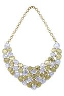 Dual tone layered necklace