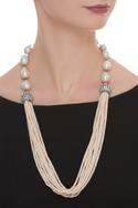 Layered bead necklace