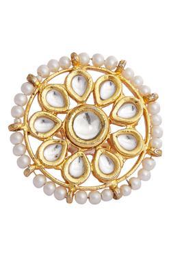 Floral Kundan Motif Ring