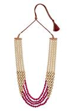 Layered kundan stone necklace