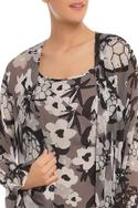 Printed Floral Dress with Jacket