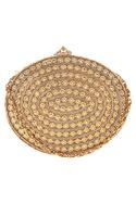 Oval Shaped Feather Detail Clutch