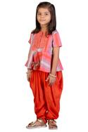 Striped top with dhoti pants