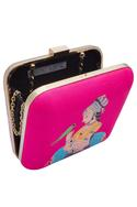 Hand painted box clutch