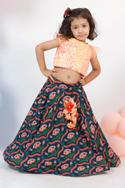 Embroidered top with skirt