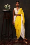 Pre-Draped Dhoti Pant Saree Set