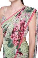 Printed Saree With Unstitched Blouse fabric