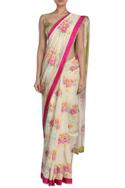 Chanderi Floral Print Saree