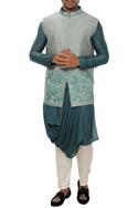 Silk Bundi Kurta Set