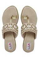 Embroidered Kolhapuri Wedges