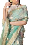 Handwoven Organza Saree with Unstitched Blouse Fabric