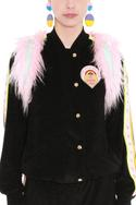 Button Front Badge Jacket