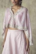 Chanderi Silk Cape Lehenga Set