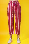 Dyed Striped Pants