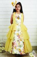 Printed Tiered Gown
