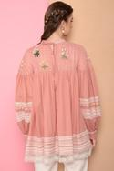 Embroidered Flared Top