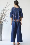 Cotton Linen Embroidered Top