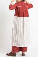 Pleated Colorblock Tunic