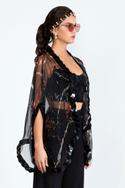 Silk Organza Printed Cape