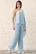 Linen Embroidered Jumpsuit