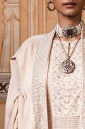 Embroidered Cape Kurta Set