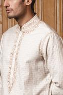 Chanderi Brocade Kurta Set