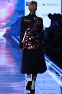 Embroidered Overlap Coat