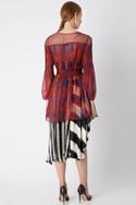 Printed Cape with Belt
