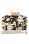 Embroidered Floral Clutch