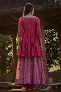 Silk Chanderi Anarkali with Kedia Jacket