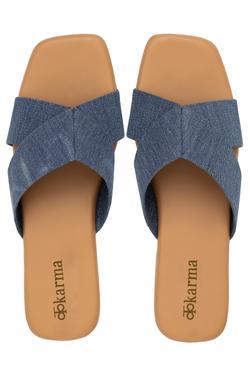 Noori Denim Strap Sandals