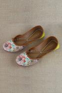 Bagh Colorblock Embroidered Juttis