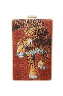Leopard Graphic Print Clutch