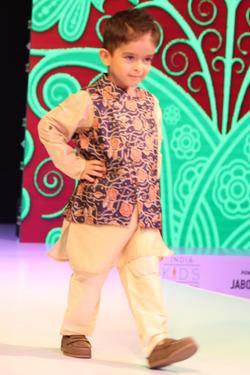 Floral Print Jacket With Kurta & Pyjama