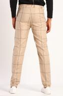 Checkered Linen Trousers