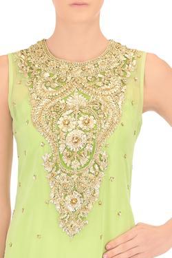 Pistachio green jumpsuit and kurta