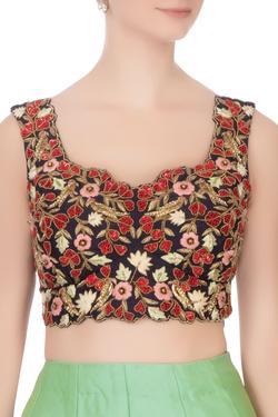 Silk Embroidered Lehenga Set