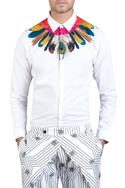 Peacock feather printed shirt