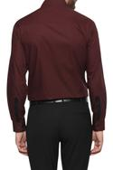 Formal dress shirt with exaggerated placket