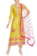 Chanderi Silk Kurta with Dupatta