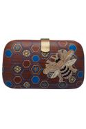 Bead embroidered clutch box