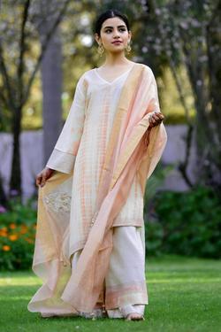 Cotton Linen Shibori Kurta Set