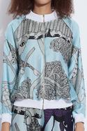 Silk Printed Bomber Jacket