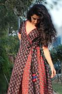 Printed Panelled Maxi Dress