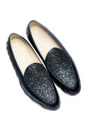 Sequin Leather Loafers